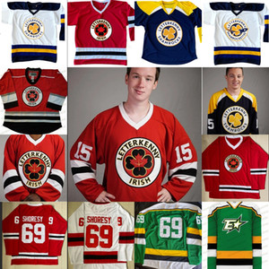 série Custom Letterkenny TV Irish Hockey Jersey 69 Shoresy 72 Jonesy Shamrocks 15 POWELL 69 SHORESY 85 NAPPY BOY 100% Cousu Hockey sur glace