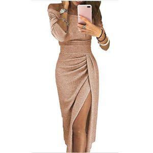 Elegante Sexy Mulheres de vestido ocasional Plus Size Club Party Dresses Prom Corte Neck baratos BODYCON Vestido 10 cores A1
