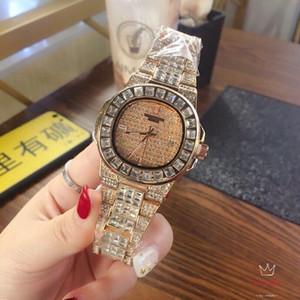 senhoras designer de moda assistir 2019 novo relógio de diamantes meninas clássico simples acessórios de moda de luxo relógios impermeável Rochwalski importados
