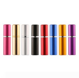 5ml perfume bottle Aluminium Anodized Compact Perfume Atomizer fragrance glass scent-bottle travel Refillable makeup spray LX6296