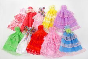 Cute 29cm, 11 Inches Barbie Doll Wedding Dress, Fashion Short Skirt, Princess Dress, 20 Style Clothes, for Xmas Kid Birthday Girl Gift, USEU
