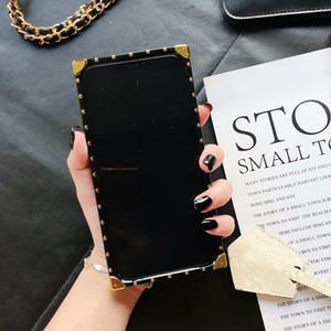 Чехол для Iphone 11 Pro X Xs Max XR моды телефон случае для Galaxy S11 S10 S9 Note9 10 Крышка телефона премиум кожи антидетонационных Защитные чехлы