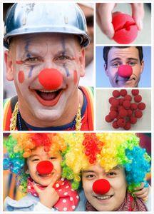 Magic Red Sponge Balls Clip Circus Clown Naso Comic Halloween rifornimenti del partito di Natale regalo dei bambini Stage prop