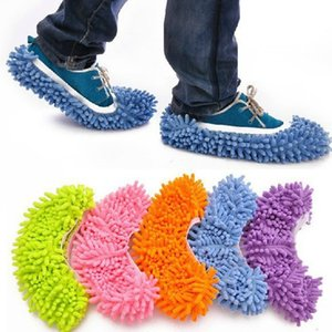 2pcs Pair Dust Cleaner Grazing Slippers 17*15cm With Elastic Bathroom Floor Cleaning Mop Cloths Clean Slipper Microfiber Lazy Shoes Cover