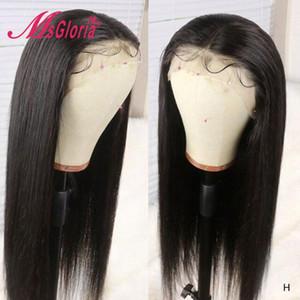 Droit Perruques Cheveux Pré plumé Brésilien Remy Lace Front perruque avec bébé cheveux décolorés Nœuds 13x3 Lace Front Wigs Human