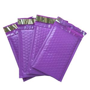 Фиолетовый Poly Bubble Mailers Конверты самообслуживания Seal Почтовые конверты СУМОЧКИ Пакета 50шт 120 * 180мм 4 * 8 дюймов