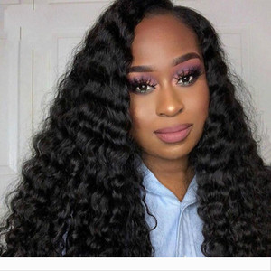 4x4 Lace Closure Wig Brazilian Virgin Hair Deep Wave Human Hair Wigs For Black Women Glueless Lace Wigs