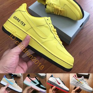 Air Force One Низкая Скейт обувь для мужчин женщин кроссовки 2020 Конструкторы Gore-Tex Dynamic Yellow ACG Black Time Capsule Повседневная обувь Размер 36-45