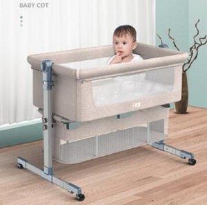 К 2020 году новые шпаргалки шить постельное съемный складной портативный бионический ребенок колыбель детская кровать новорожденного кроватки ББ с роликом москитная сетка