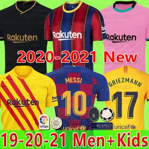 FC BARCELONA soccer jersey 20 21 camiseta de futbol ANSU FATI 2020 Messi GRIEZMANN DE JONG Maillots de football chemise kit enfant SETS enfants