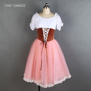 New Arrival of Adult Girls Ballerina Dance Costume Short Sleeve Ballet Dance Tutu Dress 20004