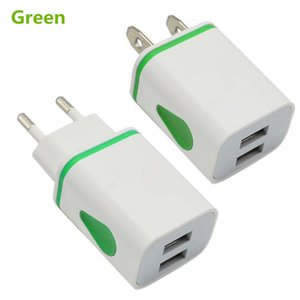 Home Travel LED USB 2 Port Wall AC Smart Charger Portable Adapter US EU Universal Plug for Iphone Samsung Galaxy Note LG Tablet Ipad