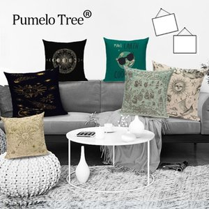 Sun Moon Decoration Cushions Cover Mandala Flower Geometric Throw Pillows Case Milky Way Abstract Cushion Cover Cases for Sofa