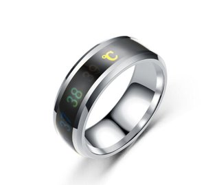 Creative Intelligent Temperature Sensitive Ring Stainless Steel Ring Titanium Steel Ring couple rings five colors for choose