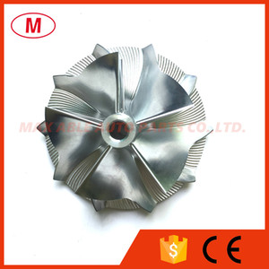 RHF55 52.00 / 67.00mm 5 + 5 lâminas para frente direção Turbocharger Turbo Billet roda do compressor / alumínio 2618 / Turbo roda do compressor de moagem