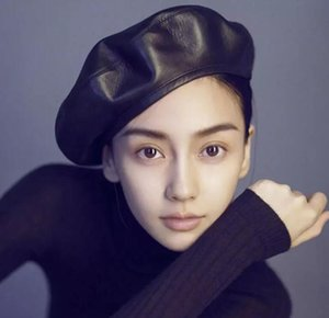 Pu Deri Bere Şapka Kadın Kız Kış Düz Kap Kadın Boina Moda Sonbahar Kış Bere Kap Kemik Gorras Ressam