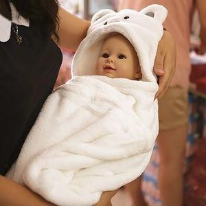 Doux bébé Couvertures bébé Enfants Serviettes de bain Forme animal Hooded Towel Belle serviette de bain Swaddle Wrap capuche Peignoir