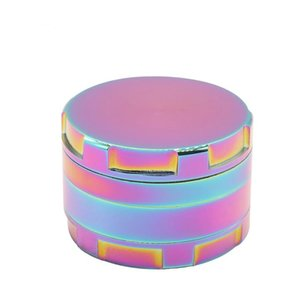 Nuovo Grinder Smoke Smoke a 4 strati con angolo piatto Defect Dazzling Color Lega di zinco 63mm Metal Smoke Grinder