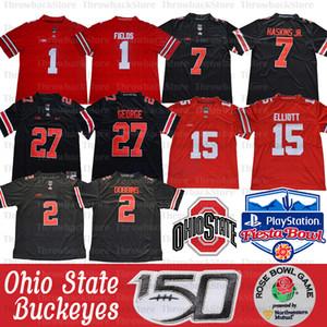 NCAA OHIO Estado Buckeyes Justin Fields Jersey 2 Chase Young Jk Dobbins 15 Elliott Dwayne Nick Bosa Archie Griffin Eddie George 150 Patch