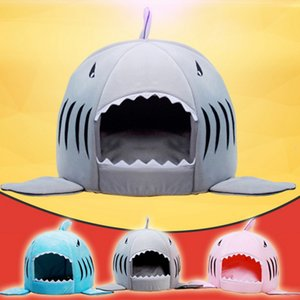 Dozzlor Shark Cat House Bed House Basket Animale domestico Dormire Shark Gatti Nest Mat Sacco a pelo Piccolo cane medio Coperta Lettino per animali