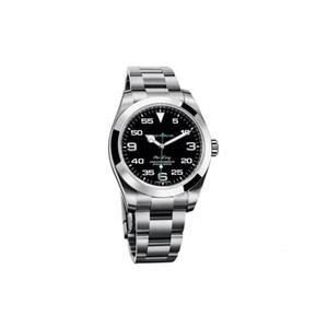 Top Luxus Menes Uhr Exp Air King Series 116900 und 216570 Schwarz 40mm Vorwahlknopf automatische mechanische Bewegung 316 Stahl Bran Designer Uhren