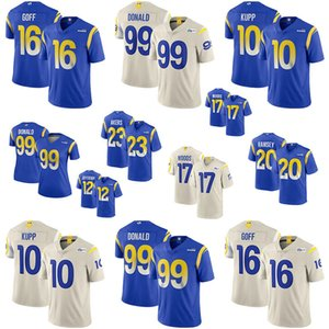 2020 New Los Angeles das mulheres dos homens da Juventude 16 Jared Goff 12 Cooper KUPP 20 Jalen Ramsey 17 jerseys 99 Aaron Donald Ram personalizado Robert Woods LA