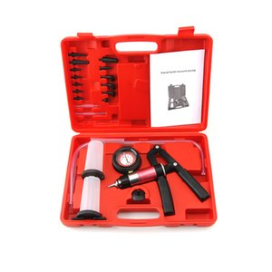 Auto Diagnostic-tool Car Auto Handheld Vacuum Pistol Pump Brake Bleeder Adaptor Fluid Reservoir Oil Tester Tools Kit set
