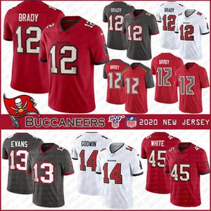 12 Tom Brady Tampa Bay # 2020 New jersey de fútbol jerseys Buccaneer 14 Chris Godwin 45 13 Devin White Mike Evans cosido