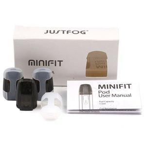 Original Justfog Minifit vaina de cartucho de 1,5 ml Vacío 1.6ohm Capacidad de cerámica algodón Resistencia de bobina vainas atomizador Fit auténtico kit de inicio