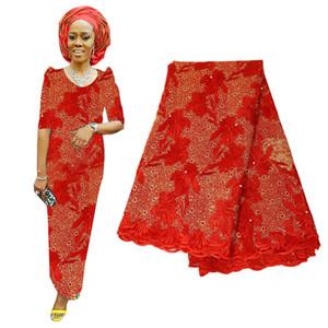 5Yards / 130 centímetros Tecido Lace Voile nigeriano ouro roxo bordado Lace Tecido Últimas Laço francês da festa de casamento para a tela New Africano