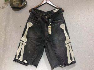 2020 del verano del Mens pantalones cortos vaqueros Capris ChoK KAPITAL CAVEMPT 19SS bordado Rib lavan pantalones cortos de mezclilla Calle manera ocasional
