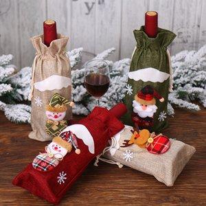 Livre DHL 201909 Natal Moda Criativa serapilheira Velho boneca Red Wine Bottle Set Vinhos partido Festival Bag Itens Bag Wine decorativas M463A