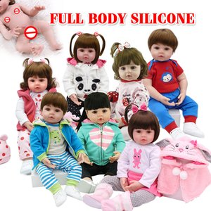 NPK Hot Selling 48cm Full Body Silicone Reborn Toddler Baby Dolls Lifelike Soft Touch Bebe Doll Water Proof Bath Toy