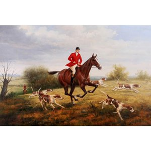 Art oil painting Landscapes The Fox Hunt Heywood Hardy Hand painted canvas animal artwork for dinning room