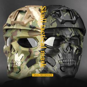 Masques tactique Paintball Crâne extérieur Chasse Tir Respirant crâne Masque facial sécurité Masques de paintball