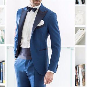 Men's Suits & Blazers 2021 Formal Italian Men Suit Skinny Tuxedo Style 2 Pieces (Jacket+Pants+Tie) Latest Designs Prom Gentle Dinner Marriag