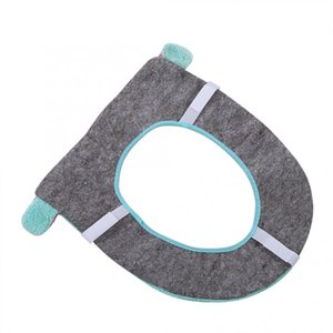 Soft Warm Washable Velveteen Toilet Seat Mat Closestool Mat Long Plush Pad Seat Case Comfortable Warmer Health Toilet Lid Cover