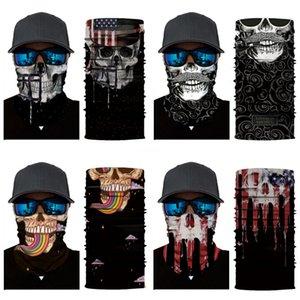Fashion Magic Cycling Caps Outdoor Cycling Skull Scarf Magic Turban Gym Sport Fitness Bandanas Yoga Headbands Riding Mask Cap#545