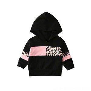 İmcute İlkbahar Sonbahar Moda Hoodies Sweatshirt Bebek Çocuk Giyim Bebek Çocuk Kız Bebek Kapşonlu En Sweatshirt Leopar Baskılı Kapüşonlular