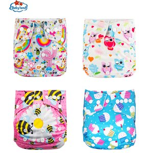 Chinese New Year 2020 New Diaper 4pcs Set Polyester Baby Diaper Cloth Covers Nappy Reusable Cloth Diapers Adjustable 0-2 Years