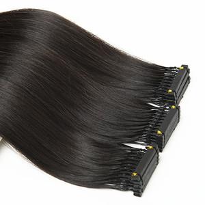 """Clip de la extensión del pelo 6D Virgen cabello humano en la extensión de la cutícula 6D Alineados cabello puede ser teñido Restyled blanqueado Color natural SLIKY recto 28"""""""