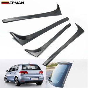 EPMAN 2pcs Rear Wing Side Spoiler Stickers Trim Cover Accessories Car Styling For VW GOLF 7 7.5 MK7 MK7.5 14-18 EPCY431BK