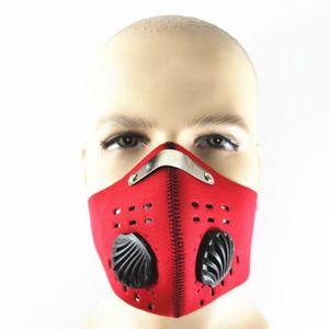 Anti Pollution Fahrrad Maske Outdoor Sports Radfahren Gesichtsmaske Filter für Radfahren Reisen Radfahren Masken OOA5044