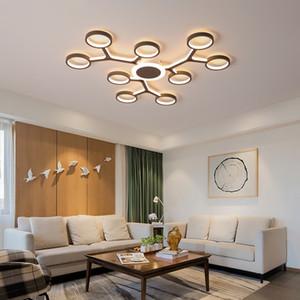 teto Modern avize Aydınlatma Armatür 110V 220V de Modern Led Avize Salon Yatak odası Yemek odası ışık cilalar