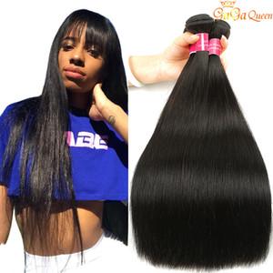 Vison brésilien cheveux raides Bundles Couleur 1B 2 4 Brésilien Vierge Cheveux raides Pérou Indien Malais Human Hair Weave Extensions