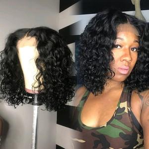 Wigirl 16 pouces 13x4 Lace Front perruques de cheveux humains du Brésil Remy Vague Bob Frontal perruque Glueless Pre plumé Black Women