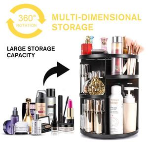 Große Desktop 360 Grad Makeup Organizer Rotierende Einstellbare Multifunktions Kosmetische Aufbewahrungsbox Pinsel Halter Schmuck Organizer
