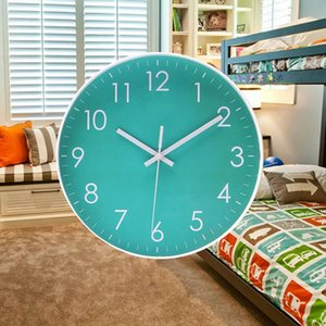 Современная Крытая Спальня Гостиная Офис Движение Кварцевые Иглы Круглый Silent Sweep Кварцевые Настенные Часы Висит Декор Бесплатная Доставка