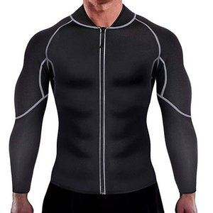 MJARTORIA Men's New Sport Neoprene Sauna Long Sleeves Fitness Thermo Shapewear High Compression Training Tops