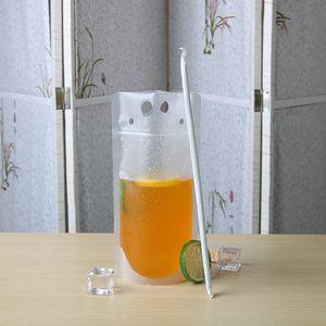 new 250ml 350ml 500ml 700ml Plastic Beverage Bag Drink Milk Coffee Container Drinking Fruit Juice bag Food Storage Bag T2I5966